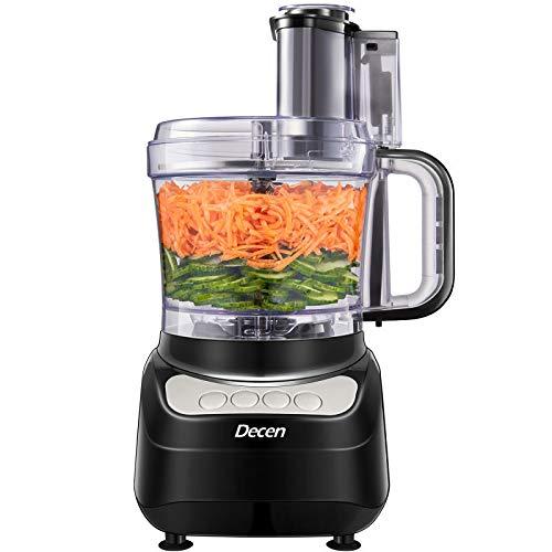 Robot da Cucina, DECEN 2L Robot da Cucina Multifunzione, 4 Velocità Regolabili Tritatutto da Cucina Elettrico, Food Processor Adatto per Carne, Spezie, Frutta, Verdura, Impastare