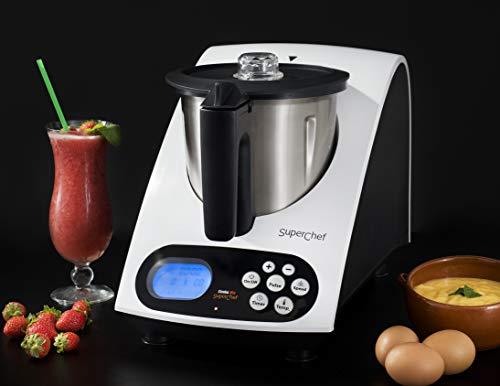 Robot da cucina Superchef VA1500 Cook & MIx, 1100w + 500w, caraffa da 2 litri di capacità reale, 10 velocità, da 40º a 110