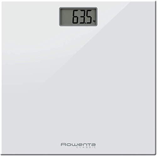 Rowenta BS1131 Classic Bilancia Pesapersone Digitale con Piatto in Vetro, Bianco