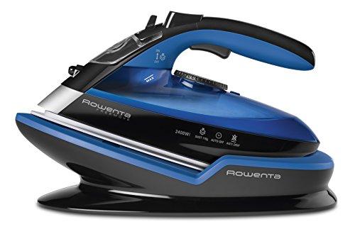 Rowenta DE5010 Freemove Ferro da Stiro a Vapore Senza Filo, 2400W, Quantità di vapore variabile 120 g/min, Nero/Blu