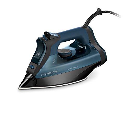 Rowenta DW7120 Everlast Anticalc Ferro da Stiro a Vapore, Sistema Anticalcare Protect & Clean, Potenza 2800 W, Nero/Blu