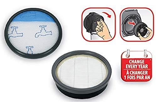 Rowenta - Kit di filtraggio aspirapolvere senza sacchetto Swift Power Cyclonic ZR904301, colore: Grigio
