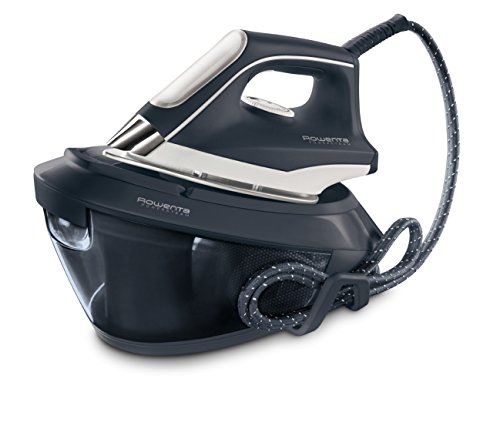 Rowenta VR8220 Powersteam Ferro da Stiro con Generatore di Vapore, 6.5 Bar Pump, Struttura Compatta, 350 g/min, 2200 W, 1.5 Litri, 15 Decibel, Acciaio Inossidabile
