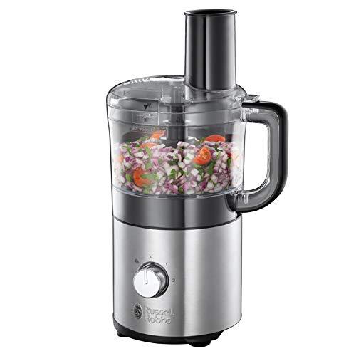Russell Hobbs 25280-56 Robot da Cucina Compatto Compact Home, Corpo in Acciaio, 1,9 L, Senza BPA, 500W,