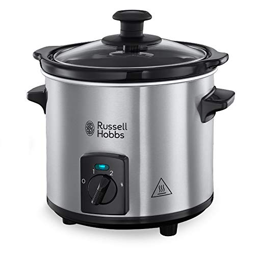 Russell Hobbs 25570-56Slow Cooker Compact Home, Corpo Acciaio, 2 L, 3 Temperature, 145W