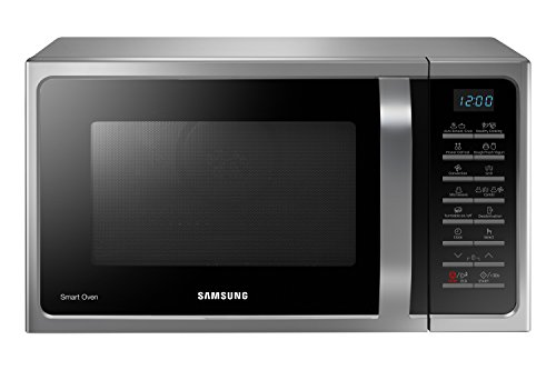 Samsung MC28H5015AS Forno Microonde Grill Combinato, 28 Litri, SmartOven, 900 W, Grill 1500 W, 51.7 x 31 x 47.6 cm, Argento