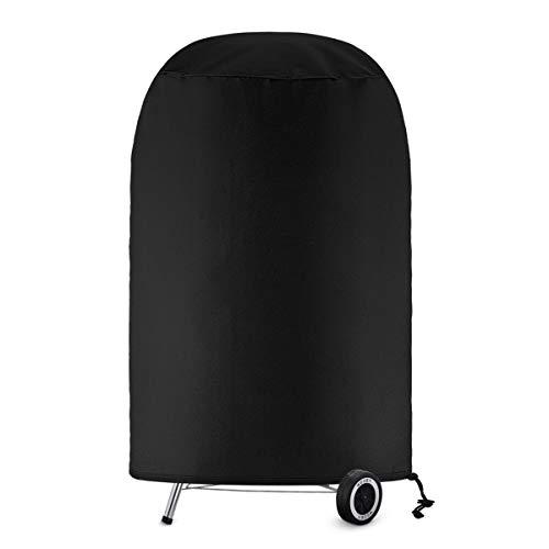 SanGlory Copertura Barbecue 71 x 68cm, Impermeabile Telo Protettivo per Barbecue Rotondo Protezione Telo Copri Barbecue, Universale Anti-UV Prova di Strappo Coperchio Griglia per Weber