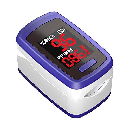 Saturimetro Da Dito, Lovia Ossimetro Portatile, Pulsossimetro Professionale con Display LED per Frequenza Del Polso(PR) e La Saturazione di Ossigeno(Spo2) Misure, Lettura Istantanea