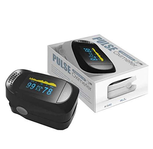Saturimetro da Dito Professionale Certificato CE 4 in 1, Pulsossimetro con Display Multidirezionale, Ossimetro per Saturazione di Ossigeno(SpO2), Frequenza Del Polso(PR), Indice di Perfusione(PI)