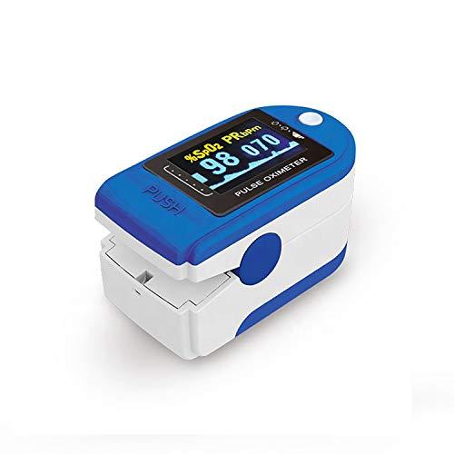 Saturimetro Da Dito Professionale Certificato Italiano Pulsossimetro Misuratore Saturazione Ossigeno Sangue(SPO2) Frequenza Cardiaca(PR), Pulse Oximeter Ossimetro Sarurimetro A Dito Digitale Oxywatch
