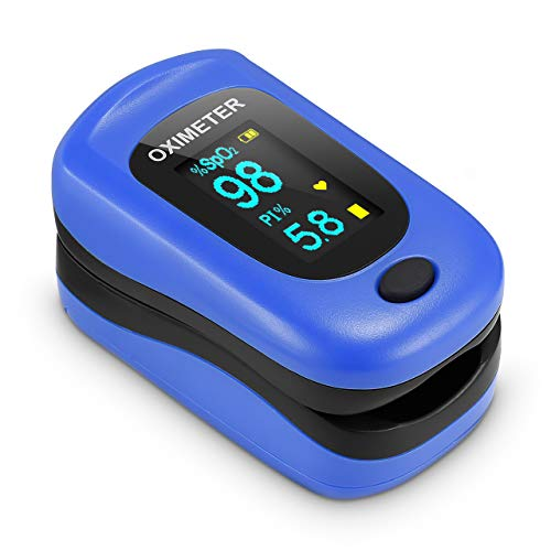 Saturimetro Da Dito, Pulsossimetro Professionale con Omnidirezionale OLED Display con Letture Immediate Ossimetro per Saturazione di Ossigeno(SpO2), Frequenza Del Polso