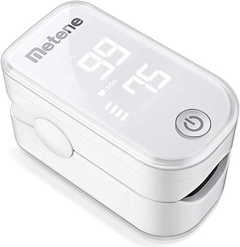 Saturimetro da dito, saturimetro da dito professionale, saturimetro portatile, monitor di saturazione ossigeno nel sangue e battito cardiaco e livello spO2, letture Immediate