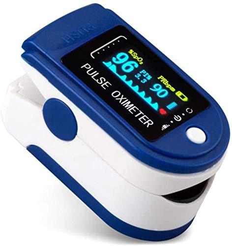 Saturimetro da Dito,Pulsossimetro da Dito Ossimetro Pulsossimetro misuratore Ossigeno da Dito Professionale Portatile, Pulse oximeter con Allarme SPO2,Display OLED per Uso Domestico, Fitness e Sport