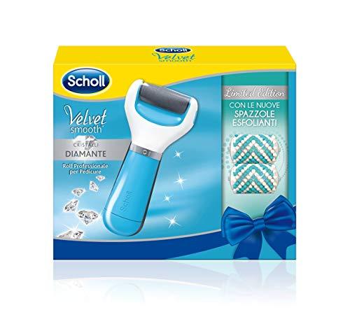 Scholl Velvet Smooth Roll per Pedicure, con Spazzole Esfolianti, Edizione Limitata