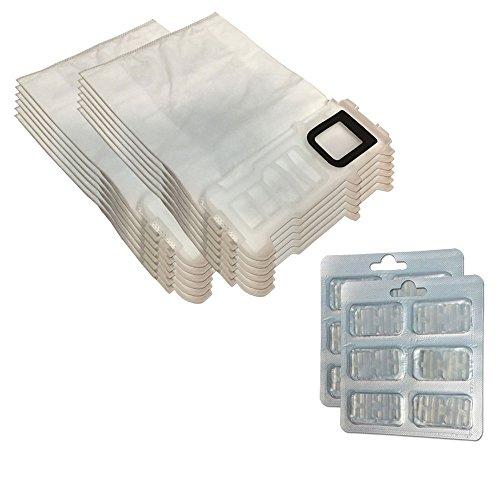 Set 12 Sacchi/Sacchetti (Microfibra) + 12 Profumini per aspirapolvere Vorwerk Folletto Kobold VK 135, 136, VK135, VK136