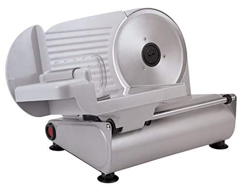 Silva-Homeline AS 520 - Affettatrice multiuso, 150 Watt, in metallo di alta qualità, lama universale in acciaio inox, regolazione continua (spessore di taglio 0-15 mm)