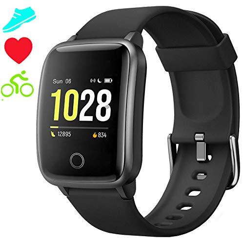 Smartwatch Cronometro Orologio Fitness Donna Uomo, Smart Watch GPS Fitness Tracker Impermeabile IP68 Cardiofrequenzimetro da Polso ECG Sveglia, Activity Tracker Sport Contapassi Bambini Android iOS