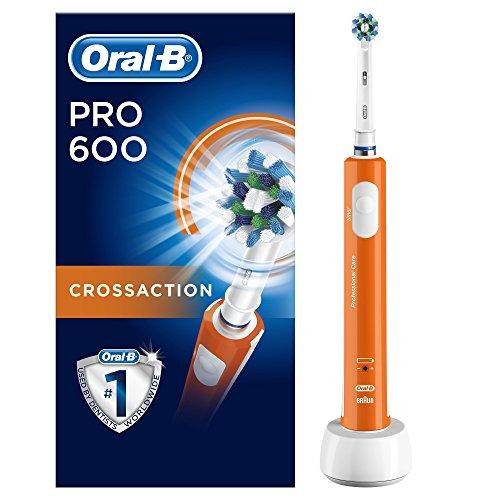 Spazzolino Elettrico Ricaricabile Oral-B PRO 600 CrossAction Orange Edition Braun
