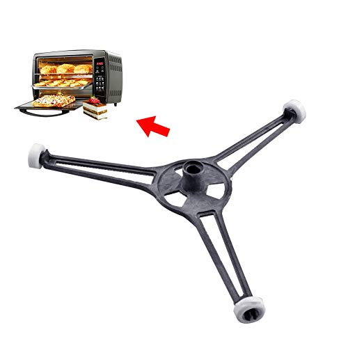 Staffa universale per forno a microonde, girevole a triangolo, per giradischi in vetro, con supporto per piastra di base e vassoio rotante (2 pezzi)