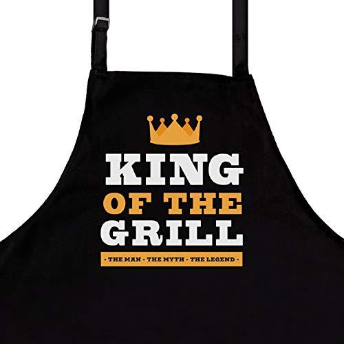 StarGifts Grembiule Divertente per Barbecue, da Uomo, Taglia Unica, qualità Premium, Accessorio Ideale per Barbecue King of #2