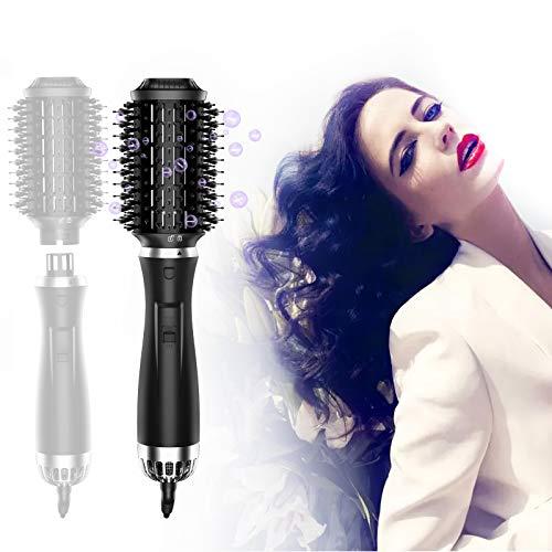 StayGold Staccabile Spazzola Asciugacapelli,Spazzola lisciante per capelli con ioni negativi,5in1 Spazzola elettrica per capelli,Spazzola lisciante &Volumizer Multifunzionale per tutti tipi di Capelli