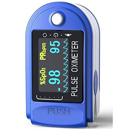 STI Saturimetro TFT Ossimetro Pulsossimetro Da Dito Professionale Portatile per Frequenza Cardiaca PR e Saturazione Ossigeno SpO2 Misure, Lettura Istantanea