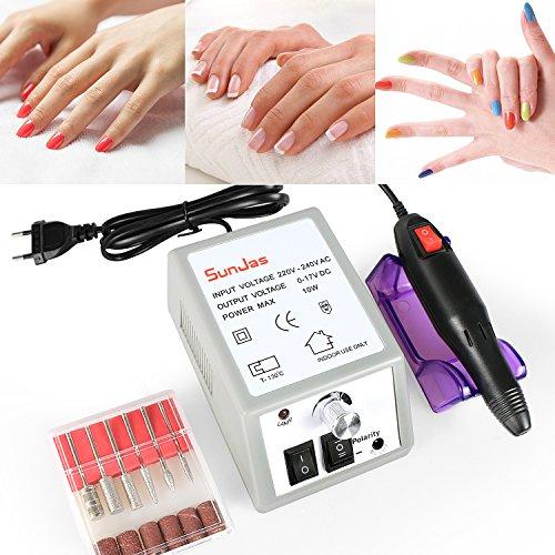 Sunjas Fresa professionale Unghie Manicure Pedicure Professionale Elettrico Nail Art File Di Foratura Pedicure Del Manicure Macchina