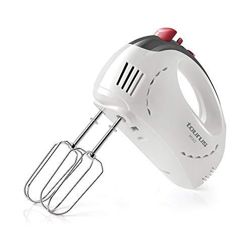 Taurus Mixo - Sbattitore Elettrici a 5 velocità per Montare, 300 W, funzione Turbo, 2 set di fruste: sbattere e impastatrice, Plastica