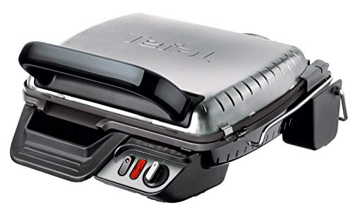 Tefal Ultra Compact 600 Comfort GC3060 Griglia di Contatto da Tavolo 2000W Nero, Acciaio Inossidabile