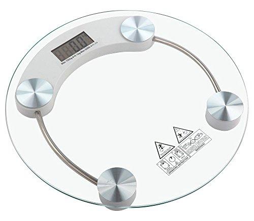 tempo di saldi Bilancia Pesapersona Elettronica Digitale in Vetro con Portata di 150 kg
