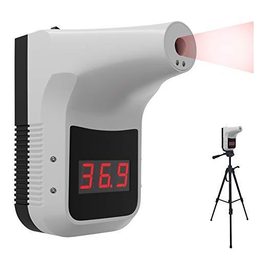 Termometro a infrarossi per febbre, montaggio a parete, termometro senza contatto per il controllo dell'ingresso, 0,5S, per induzione, allarme intelligente ad alta temperatura, colore bianco