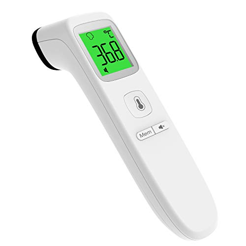 Termometro Frontale a Infrarossi, UNTIRE Termometro Digitale Senza Contatto Adatto per Neonati, Bambini, Adulti, Letture istantanee Accurate