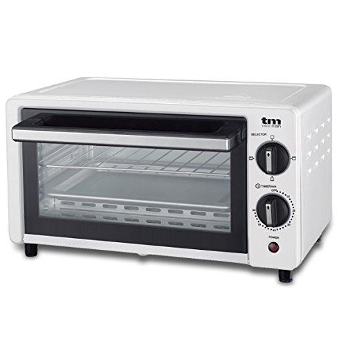 TM Electron, Mini forno tostapane, 800W, 10 L di capacità, 3modalità di riscaldamento bianco