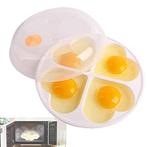 TUSNAKE Sistema Microwave Cuoci Uova, Stampo per Uova Stampo per Uova Piroscafo Strumento da Cucina per Cottura a Vapore, Fino a 4 Uova