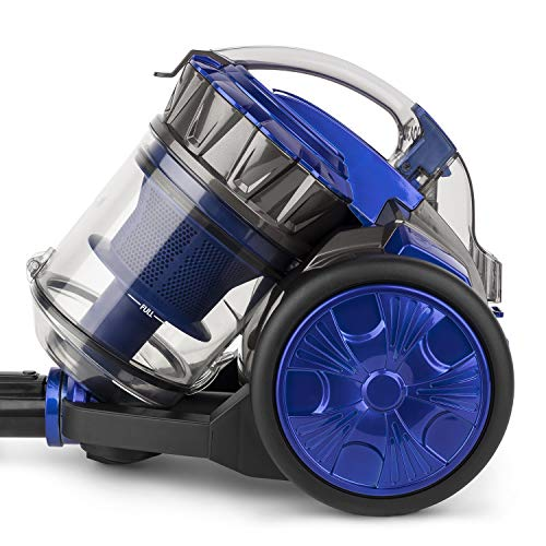 WËASY WS14 Aspirapolvere a Traino AAAA Senza Sacco, 900 W, 2 Litri, 78 Decibel, Plastica, Blu e Grigio