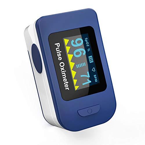 Wellue FSC20C - Pulsossimetro da Dito - Saturimetro - Ossimetro - Lettura immediata su schermo oled - Ossigeno, Frequenza del Polso e Onda Pulsazione - Dispositivo Medico CE 0123
