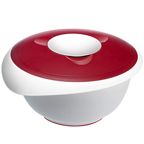 Westmark 3155-Ciotola con Coperchio per Impasto, 3,5 Litri, Colore: Rosso/Bianco, Plastic, 3.5 l