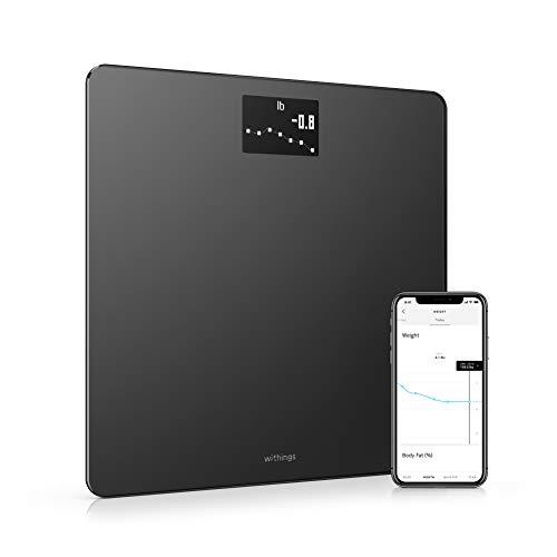 Withings Body – Bilancia Intelligente Wi-Fi con Monitoraggio dell'IMC, Pesapersone Digitale da Bagno e Sincronizzazione con l'App tramite Bluetooth o Wi-Fi