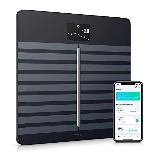 Withings Body Cardio – Bilancia Intelligente con Analisi Composizione Corporea, Monitoraggio Frequenza Cardiaca, Pesapersone Digitale da Bagno, Sincronizzazione dell'App tramite Bluetooth o Wi-Fi