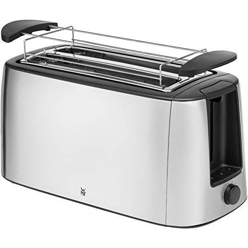 """WMF """"Bueno Pro"""" - Tostapane a fessura lunga, per 4 toast o 2 fette di pane, tostapane XXL, funzione croccante, 6 livelli di doratura, accessorio per preparare panini, acciaio inox opaco"""