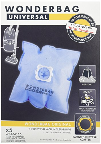 Wonderbag WB406120 Sacchetto aspirapolvere universale - raccomandato per Roventa - 5Pz