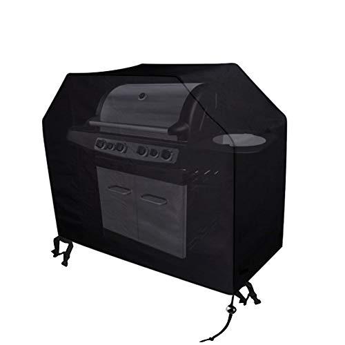Xiliy Copertura Barbecue Impermeabile Telo Protettivo per BBQ Grill Anti Pioggia Polvere Sole Neve Tessuto Nero Oxford 145x61x117cm