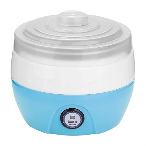 Yisentno Macchina per Yogurt Automatica per Uso Domestico con Contenitore Interno in Acciaio Inossidabile per gelatiera, per Cucina Domestica(Blue)