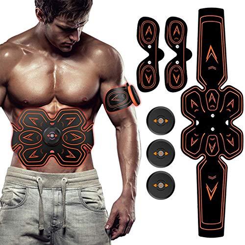ZHENROG Elettrostimolatore per Addominali, Elettrostimolatore Muscolare Professionale per Braccio/Gambe/Glutei, EMS con USB Ricaricabile, 6 modalità e 9 Livelli di Intensità