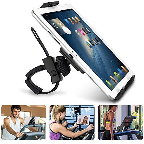 """AboveTEK Supporto per iPad/iPhone/Tablet, Anti Shock 360 Gradi da 3,5 """"a 12"""", Porta per Tablet con Cinturino Espandibile per Ciclismo Indoor/Palestra/Tapis Roulant/Spin Bike/Ellittica"""
