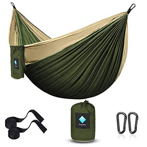 Amaca da Campeggio Giardino, Massima Portatile Nylon da Paracadute per Trekking all'aperto Amaca da Viaggio Esterno Amaca da Giardino Sospesa Interni Capacità di Carico 450lb
