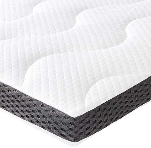 Amazon Basics - Coprimaterasso in gel e schiuma, spessore 7 cm, 180 x 200 cm