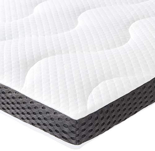 Amazon Basics - Coprimaterasso in gel e schiuma, spessore 7 cm, 80 x 190 cm