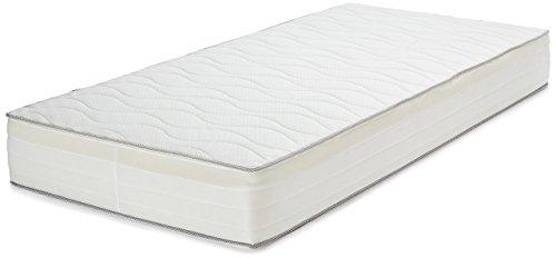 Amazon Basics - Materasso extra comfort a 7 zone a molle, Medio, 80 x 190 cm
