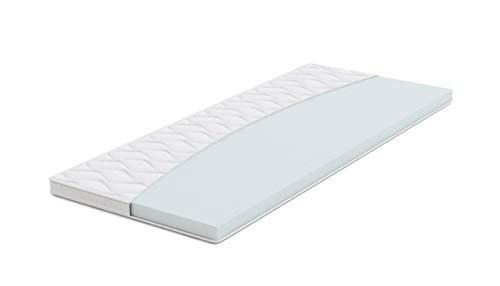 Amazon Basics, Topper per materasso, in schiuma ad alta resilienza, morbido H2 - 80 x 190 x 6 cm